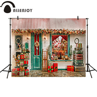 Allenjoy Photography Backdrop Christmas Gifts Door Windows Box House Newborn Photo Studio Photocall Background Custom