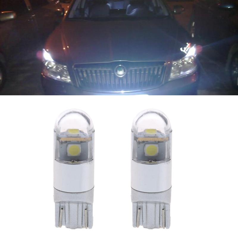 1 Pair T10 Car Lamp 3 SMD LED 3030 Brake Parking Reverse 9-30V White 6000K
