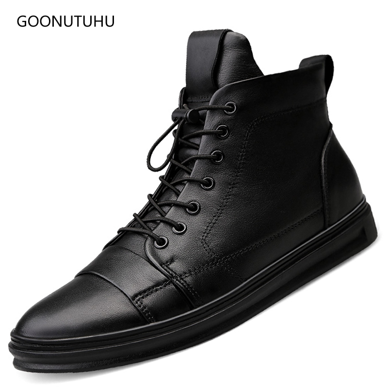 2018 winter men's boots casual genuine leather cow work shoes plus size 48 military boot man black shoe ankle snow boots for men 2018 new genuine leather men boots winter man casual shoes with fur warm fashion ankle boot men s snow shoe work vintage male