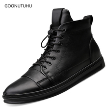 2019 winter men's boots casual genuine leather cow work shoes plus size 48 military boot man black shoe ankle snow boots for men vancat 2018 new genuine leather men snow boots autumn winter outdoor working man ankle boot men s work shoes plus size 38 47