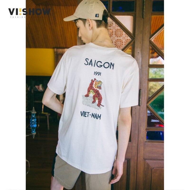 VIISHOW Nieuwe Merk Katoenen T shirt Mannen tiger Animal borduren Kleding Zomer Top O hals Korte Grappige T shirts voor man TD1538182-in T-shirts van Mannenkleding op AliExpress - 11.11_Dubbel 11Vrijgezellendag 1