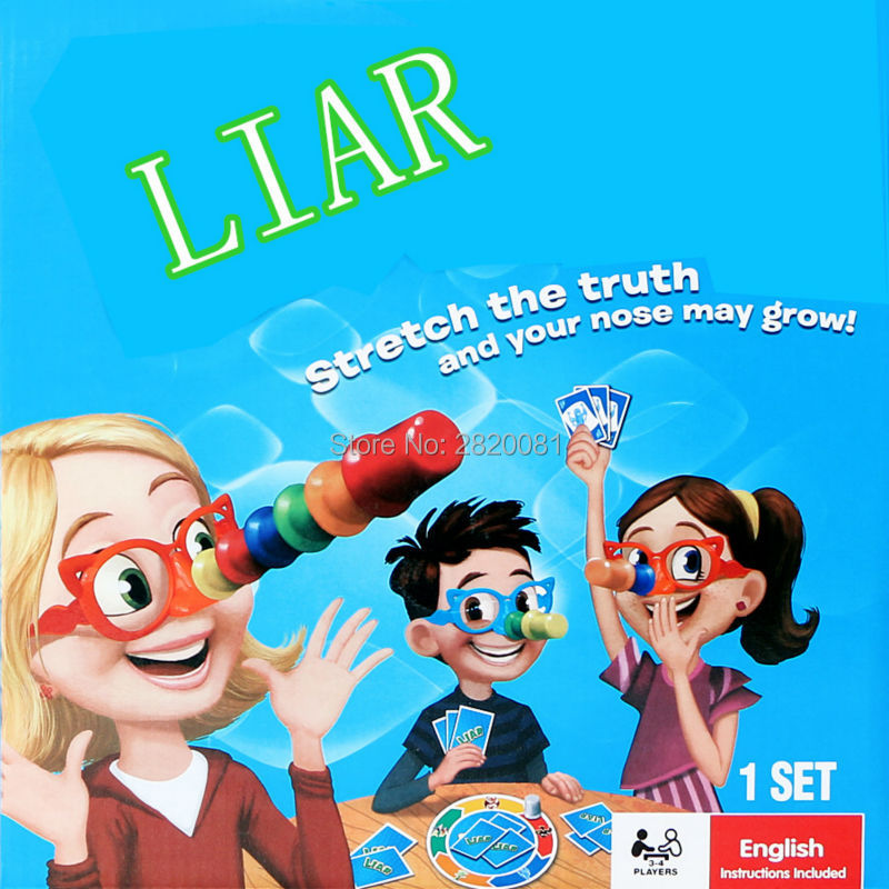 NEW Family Funny Game LIAR Hilarious Noses & Glasses Toys,children-parent Novelty Game 2-4player Your Nose May Grow Toy Set