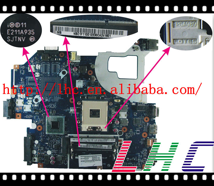 Original Motherboard For Acer Gateway Ne56r Nbc1f11001