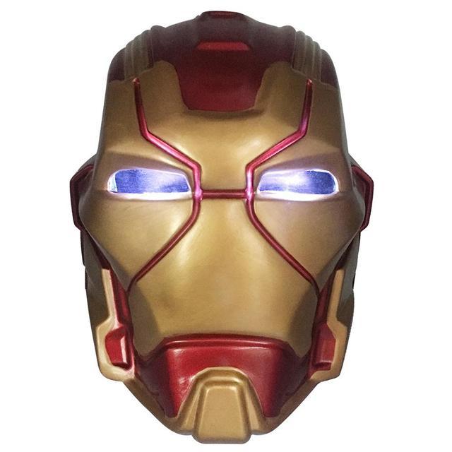 Anime The Avengers 4 Endgame de Super-heróis da Marvel Tony Stark Homem De Ferro Cosplay Máscara Máscaras Criança Adulto PVC Glod Capacete LEVOU brinquedo Novo