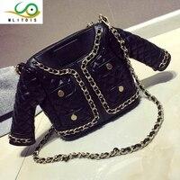 2016 Summer New Fashion Personality Jacket Packet Chain Handbags Europe Casual Shoulder Bag Women Messenger Bag