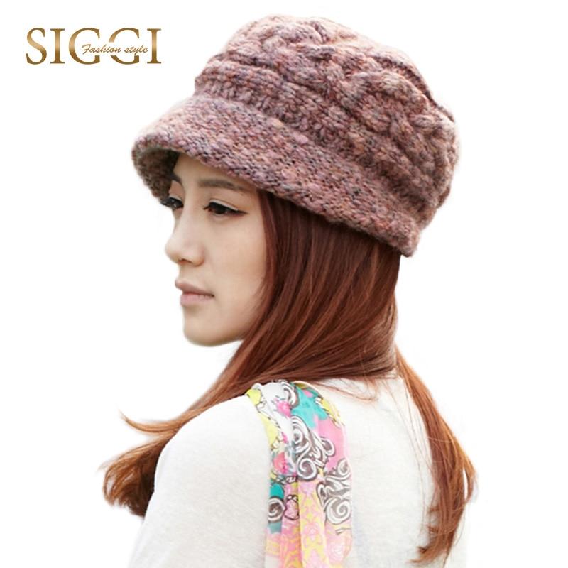 SIGGI Women Knitted Cloche Beanie Hat Skullies Caps Brim Fall Winter Soft Lining 66064