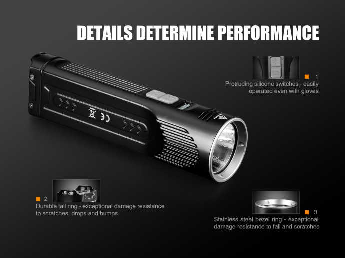 Fenix UC52 фонарик Cree XHP7 тактический фонарик 3100 люмен Micro-USB аккумуляторная кемпинг факел