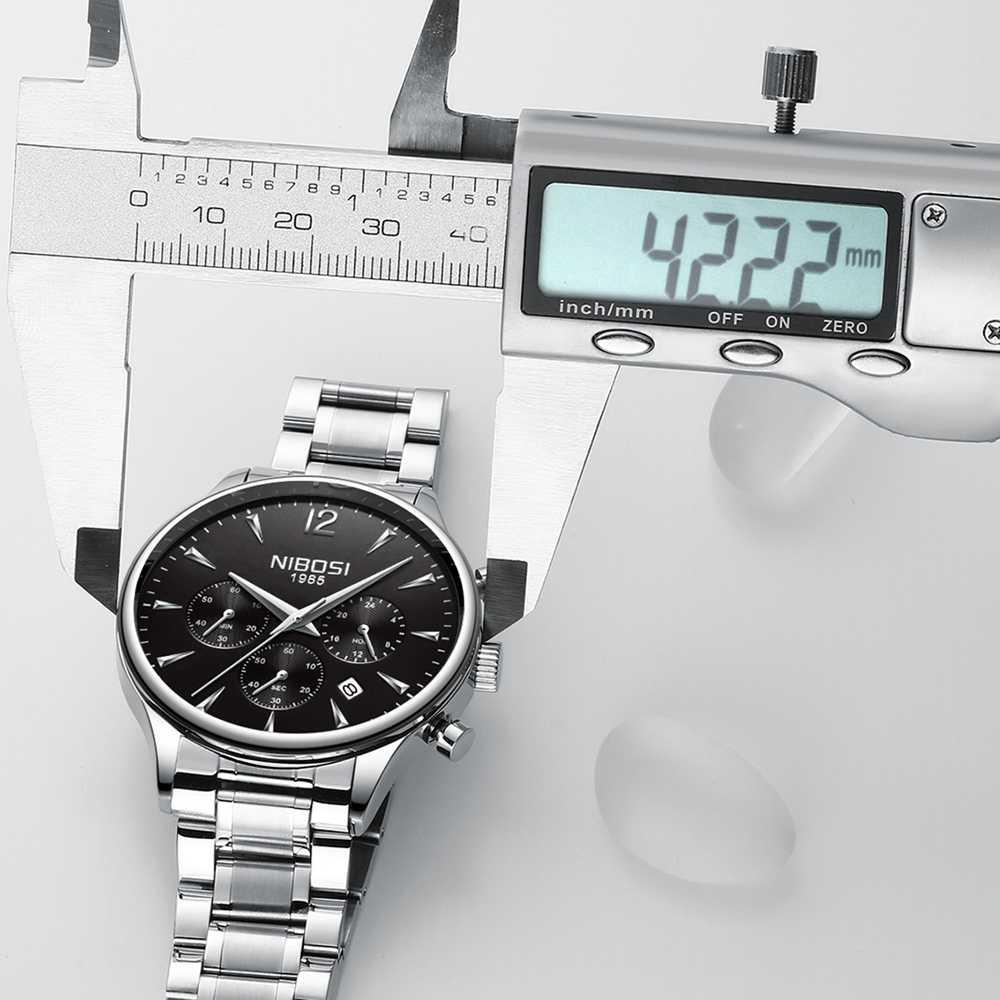 NIBOSI יוקרה מותג שעונים גברים ספורט שעונים עמיד למים קוורץ זכר שעון צבאי שעון יד Relogio Masculino Montre 2019 Saat