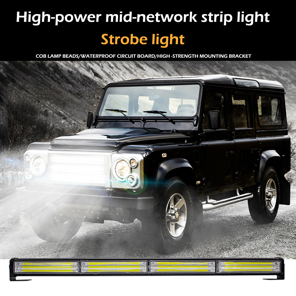 DC12 24V Car LED Police Light COB Strobe Single Row Bar Light Traffic Open Road Warning