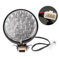5 Motorcycle LED Headlight Head Lamp Light 12V Motor Head White For Harley Bobber Choppers Touring Custom Bikes