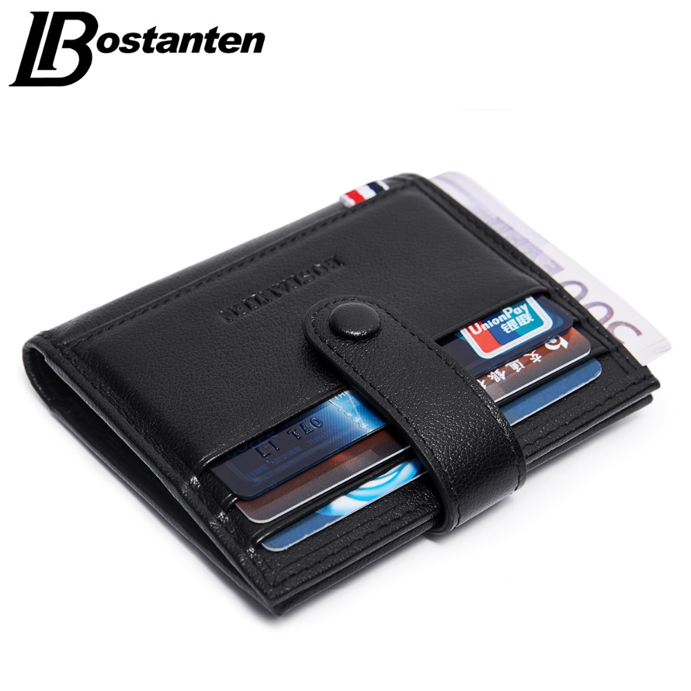 Bostanten Mini Wallets Hasp Small Purse Real Genuine Leather Wallet Card Holder Men Purses vintage Male Wallet Luxury Brand гарнитура jbl e55bt белый jble55btwht