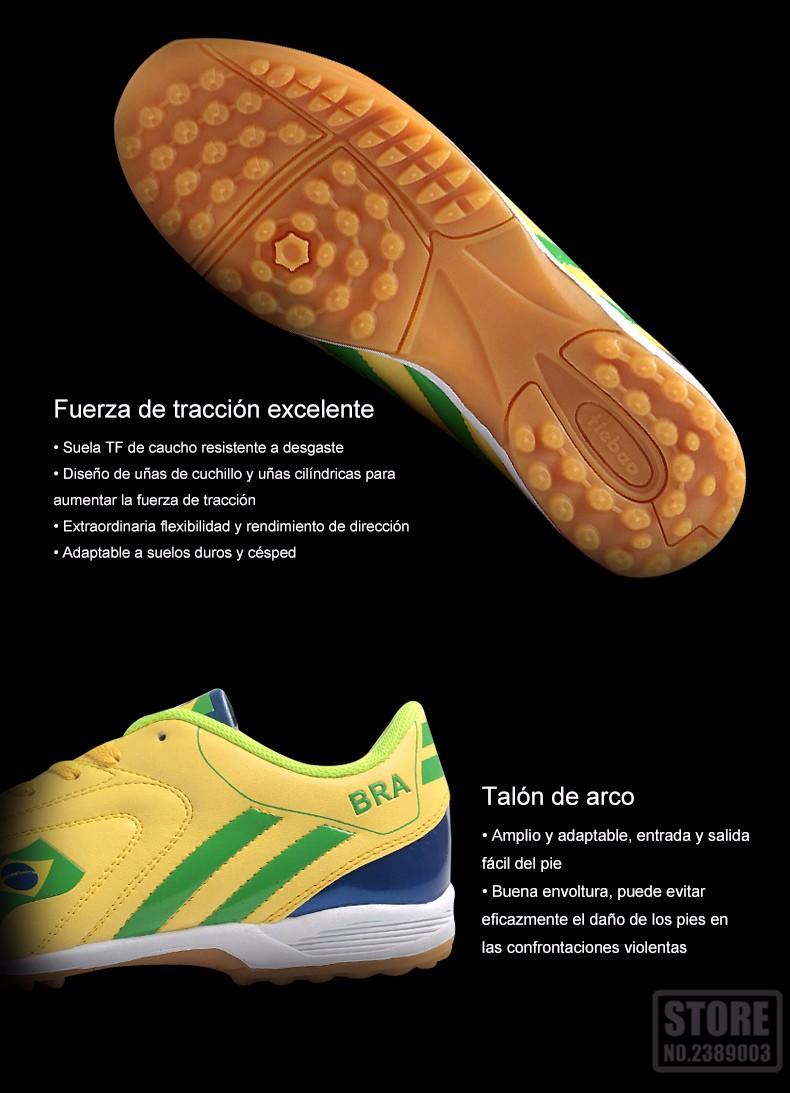 Suelas de botas de fútbol tf turf tiebao marca profesional hombres ...