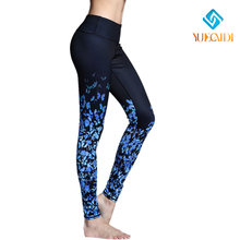 2016 New brand Women butterfly Leisure YOGA Running Sports Dancing Pants Elastic Leggings ladies Body building Fitness Trouser