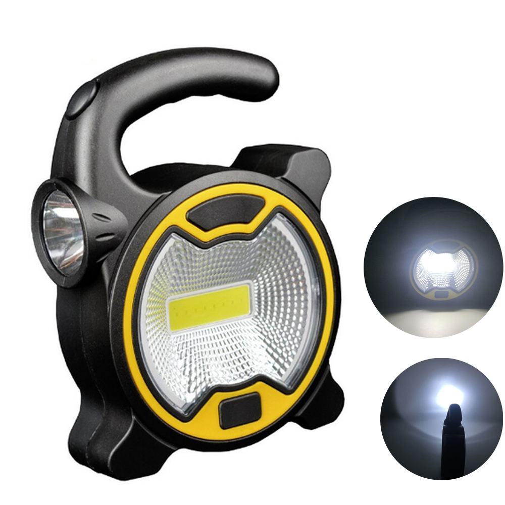 Portable Work Lamp Hanging Mini Lantern Home Floodlight Emergency Light Waterproof Tent Outdoor LED Flashlight Camping COB LED