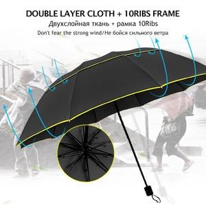 Image 4 - 130 Cm Dubbele Sterke Wind Slip Paraplu Regen Vrouwen Grote Opvouwbare Non Automatische Paraplu Mannen Familie Reizen Business Paraguas