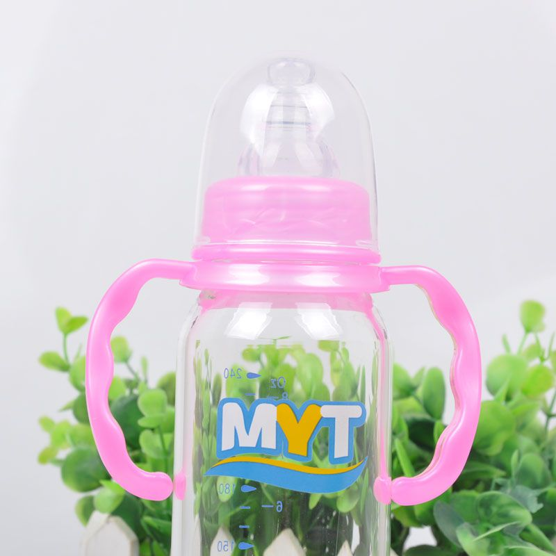 бутылочки с ручкой новорожденных бутылки печати случайно стандарт калибра стекло 240 мл