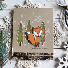 Eastshape Winter Fox Metal Cutting Dies Stamps and Animal for Scrapbooking Craft Cuts Card Making Embossing New 2019