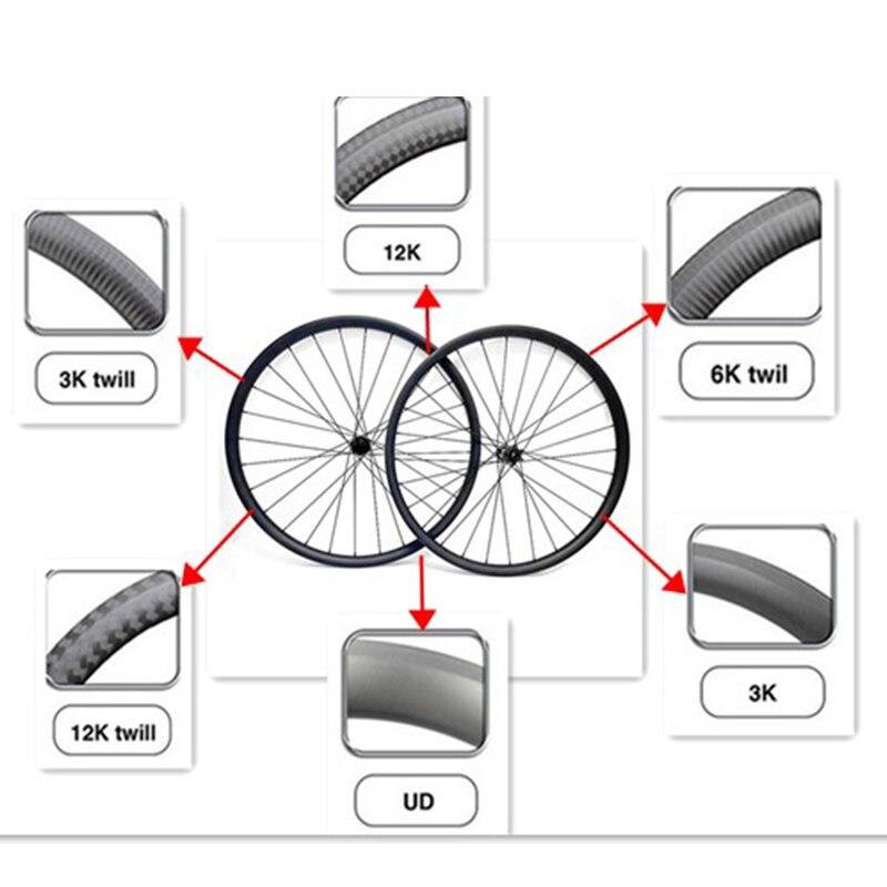 rodado sem câmara de carbono roda bicicleta