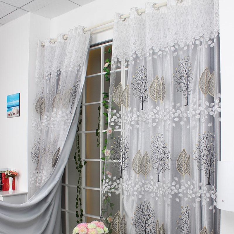 cortinas transparentes cortinas de tul burnout para saln dormitorio rosa rideaux pour le salon ventana cortinas