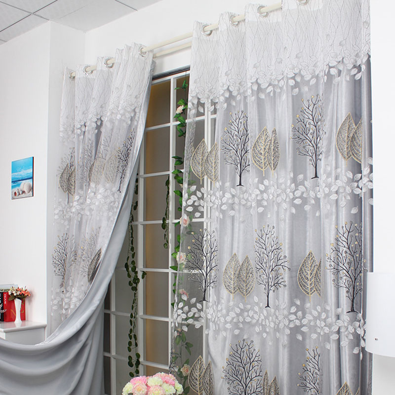 Sheer Curtains Tulle Burnout For Living Room Bedroom Pink Rideaux Pour Le Salon Window Cortinas Voile