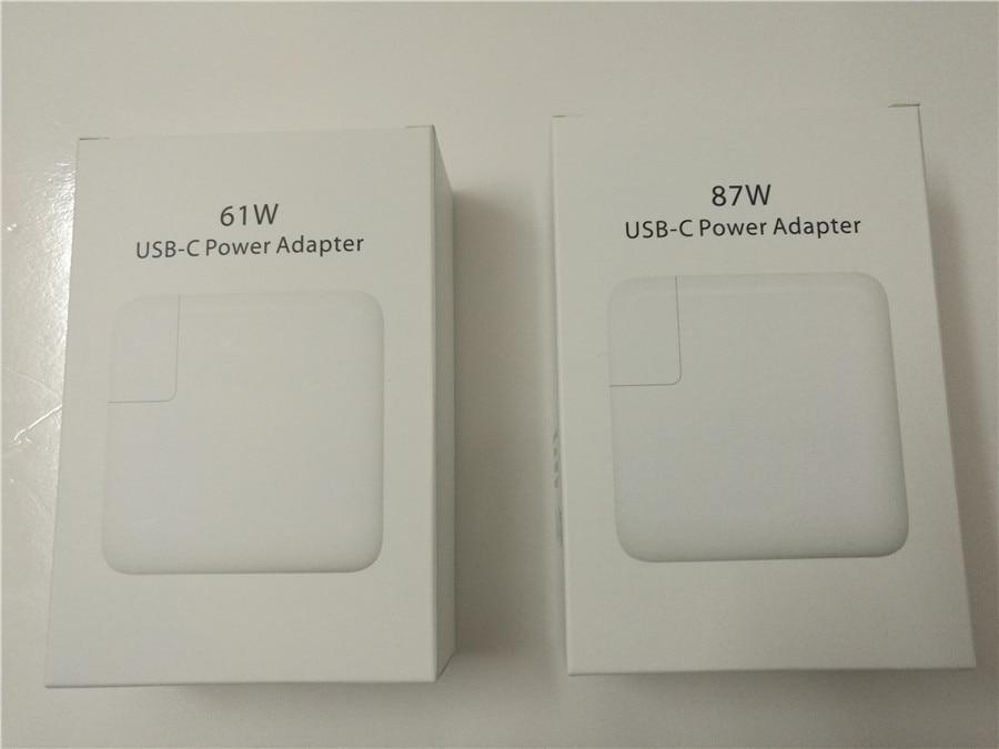 imágenes para Nuevo 87 W 61 W USB-C Adaptador de Corriente de Carga Rápida para el iphone 7 Plus para Macbook Pro para el Smartphone de samsung para huawei para xiaomi