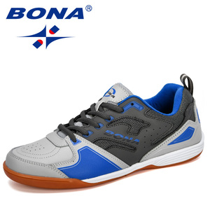 Image 2 - BONA 2019 New Designer Men Soccer Shoes Outdoor Training Football Boots Man Sport Sneakers Athletic Shoes Male Leather Comfortab