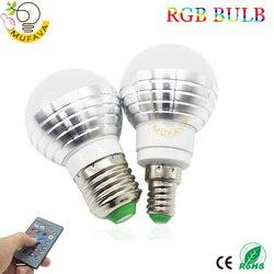 E27 GU10 светодиодный лампы 5 Вт RGB 16 Цвет сменный светодиодный светильник 110V 220V Светодиодный светильник лампы Точечный светильник с ИК-пультом ...