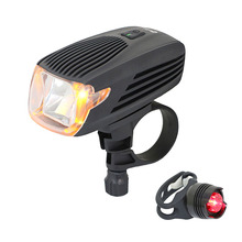 LED Bike Light USB Rechargeable Bicycle Headlight Automatic System Yellow Daytime Easy To Instal