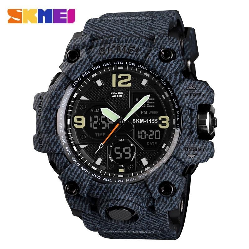 Top Brand Luxury SKMEI Men Digital LED Military Watches Men's Analog Quartz Digital Watch Outdoor Sport Watch Relogio Masculino