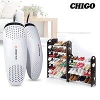 CHIGO Portable 220v 14 8W Shoe Dryer Ultraviolet Shoe Sterilizer Car Shape Voilet Light Heater Dryer