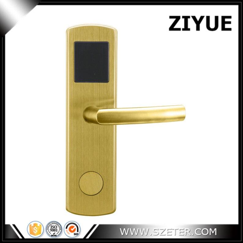Silver Electronic Digital Card key Keyless Hotel Room RF Card Hotel Door Locks for system ET600RF