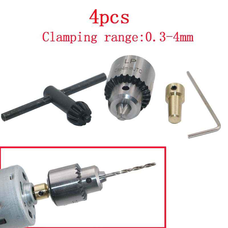 "4pcs//set 1//8/"" Shaft JT0 Connection Rod Chucks Clamp W// Key Clamping 0.3-4mm"