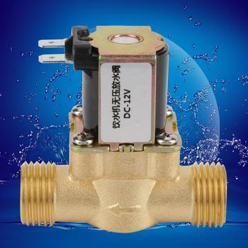 12V BSPP G12 Brass NC Normally Electric Solenoid Valve 2 Way Regulating Valve No Pressure free shipping 2pcs 1 1 2 normally open brass electric solenoid valve no 2w400 40 no dc24v