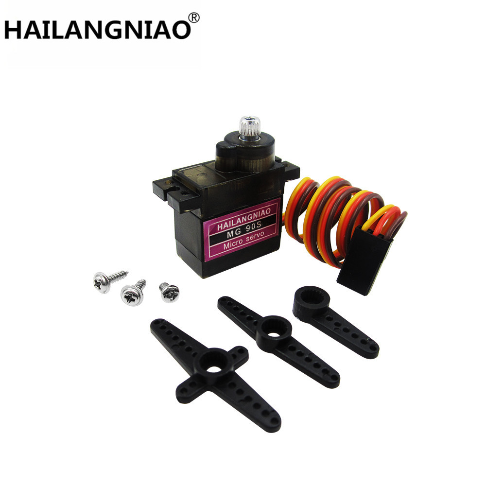 HAILANGNIAO 5pcs/lot MG90S Metal gear Digital 9g Servo For Rc Helicopter plane boat car MG90 9G jx pdi 5521mg 20kg high torque metal gear digital servo for rc model