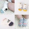 Calcetines lindos Del Bebé para niños niñas de Suela de Goma Antideslizante calcetines Cómodos del bebé recién nacido de Algodón Suave calcetines Infantiles del niño 5 par/lote