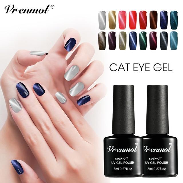 Vrenmol 3d Cat Eye Painting Nail Polish Esmaltes Nail Art Design Uv