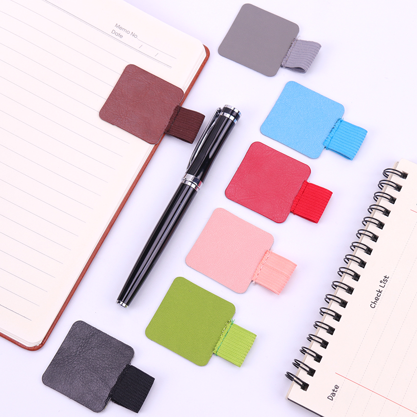 1PC New Elastic Ring Pen Holder Self-Adhesive Leather Pen Clip Loop For Notebooks Journals Clipboards Pencil Elastic Pen Cover