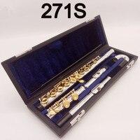 100% г. Япония профессии флейта 271 S Стандартный Позолоченные студент небольшой локоть флейта закрыты открытое отверстие модель флейты E ключ