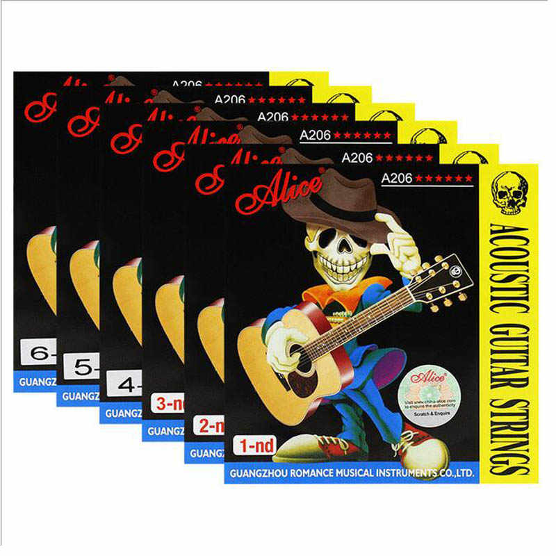 Guitar Strings Acoustic Folk Guitar Classic Two Colors Strings E-A nickel FULL Steel and Bronze Bright Tone Extra Light Medium