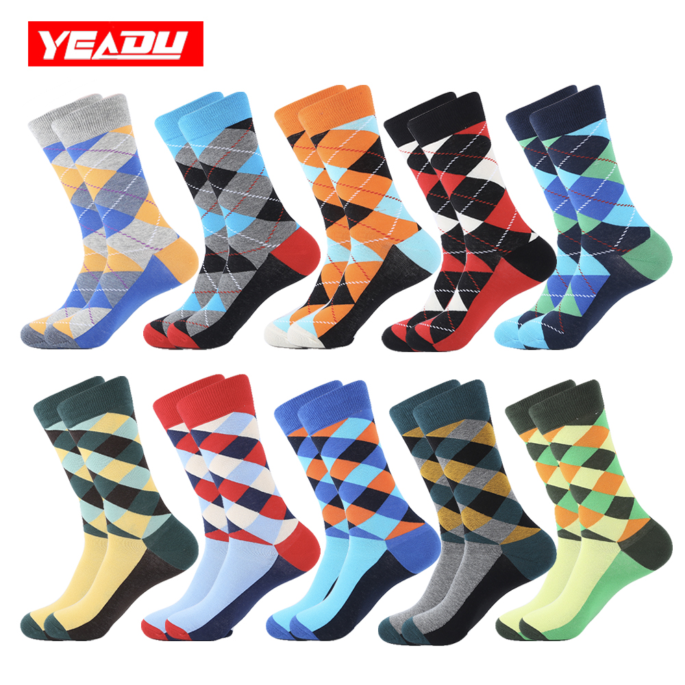 Reasonable Vvqi Harajuku Happy Socks Men Hip Hop Funny Clothes Fashions Dress Novelty Striped Black Lattice Streetwear 4pairs Cotton Casual Underwear & Sleepwears