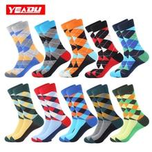 YEADU 10 Pairs Lot Men s Socks Colorful Cotton Funny Harajuku Cool Hiphop Casual Happy Dress