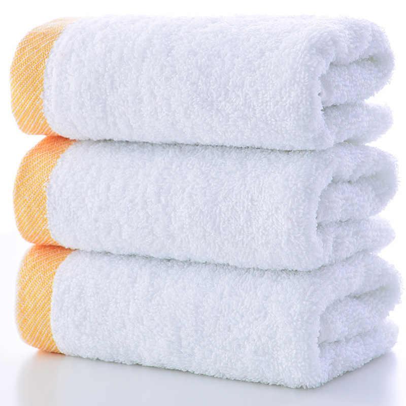 1 sztuk bawełna kąpieli ręcznik do twarzy złoty haftowane szybkie suche ręczniki do domu hotelu łazienka