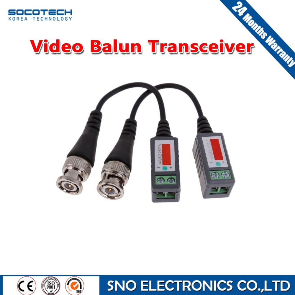 10Pairs CCTV Accessory CCTV Video Balun Transceiver Twisted 1Channel BNC Passive Transceivers For AHD TVI CVI