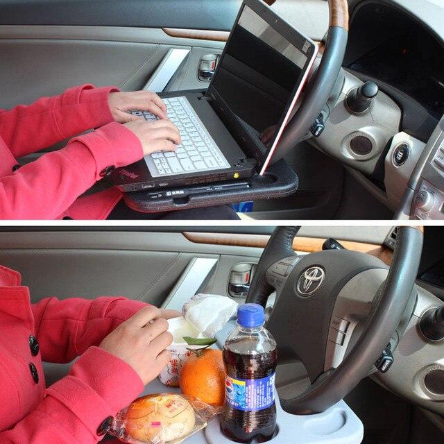 Protable Mini Car Laptop Desk/Volante Multi Bandeja Suporte de Laptop Mesa Notebook Mesa de Trabalho Clipe Monte