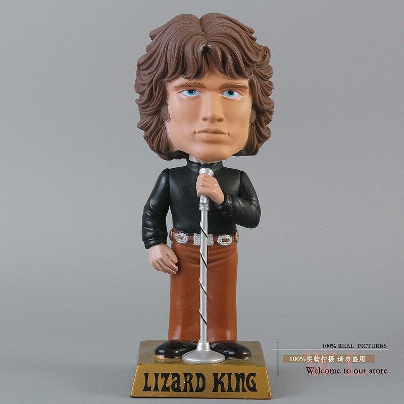Rock Band The Doors Jim Morrison Wacky Wobbler Bobble Head PVC Action Figure Toy grant morrison the invisibles
