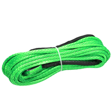 15M 5500lbs Synthetic Winch Rope Cable Line Towing Accessories for ATV UTV Off-Road Green