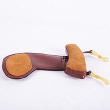 Уважаемый овечья шкура высокого качества подбородка подбородник для скрипки Ombro коврик для скрипки Ombro музыкальная Скрипка Инструменты Профессиональный коврик для мыши