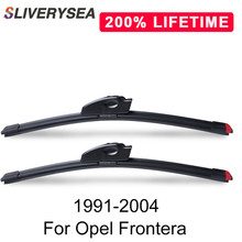 SLIVERYSEA Replace Wiper Refill Windscreen Blades for Opel Frontera [A;B] 1991-2004 Windshield Rubber Replacement