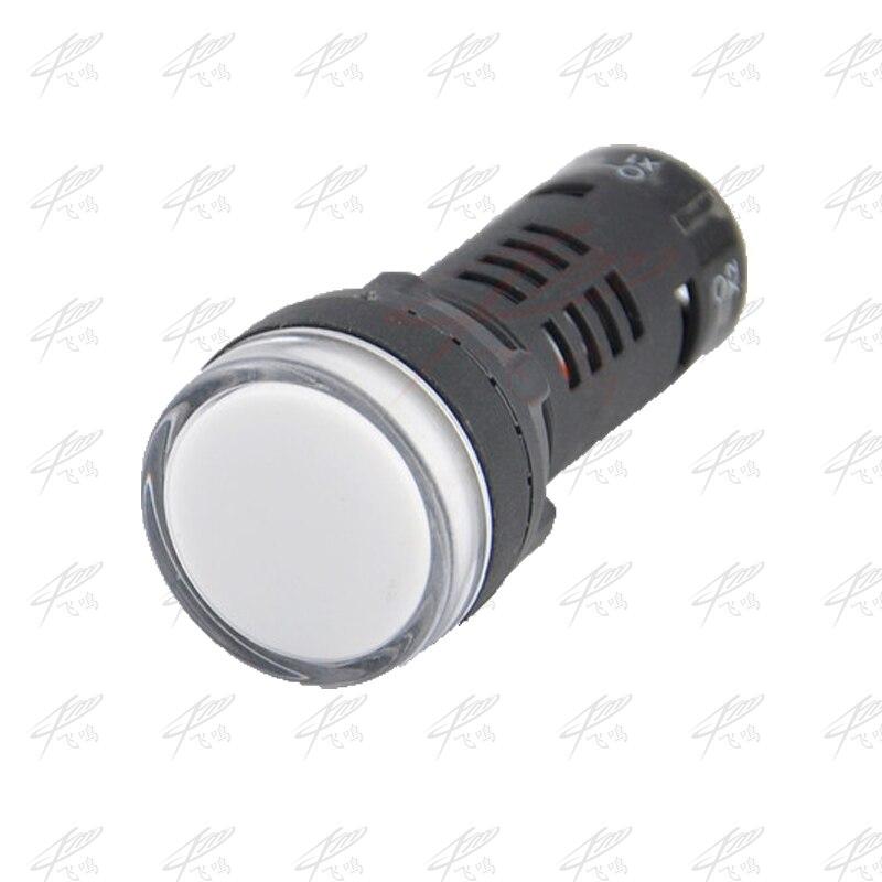 2pcs 22mm 12V 24V 36V 220V 380V Double Color Red Green Signal Lamp LED Power Indicator Light AD16-22SS