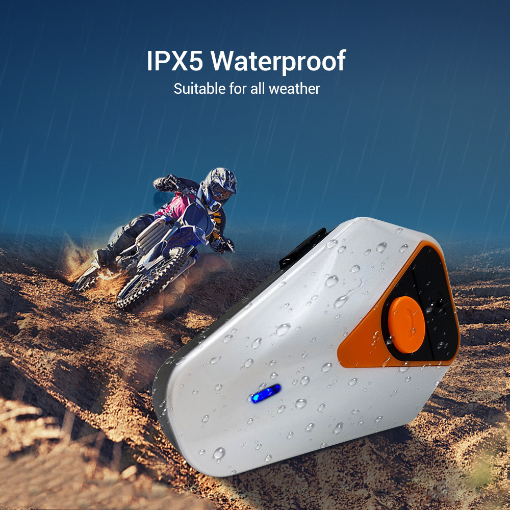 Bluetooth Handsfree Interphone BT-S2 Motorcycle Helmet Intercom 1000M Waterproof FM Radio Headset 3.0+EDR WT003
